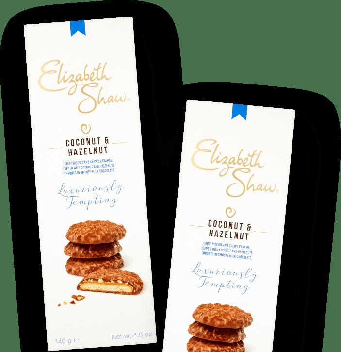 Elizabeth Shaw Coconut and Hazelnut biscuits header